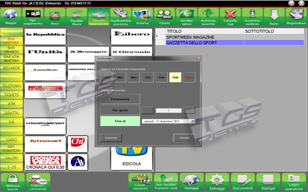 iGerivPlus - Gestionale per edicole e rivendite con software iGeriv