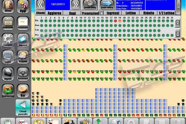 Software gestionale spiagge, camping, villaggi, stabilimento balneare